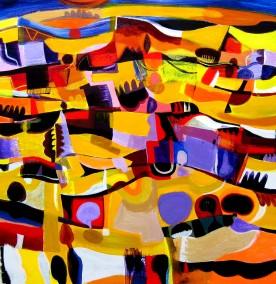 Pentlands summer abstract